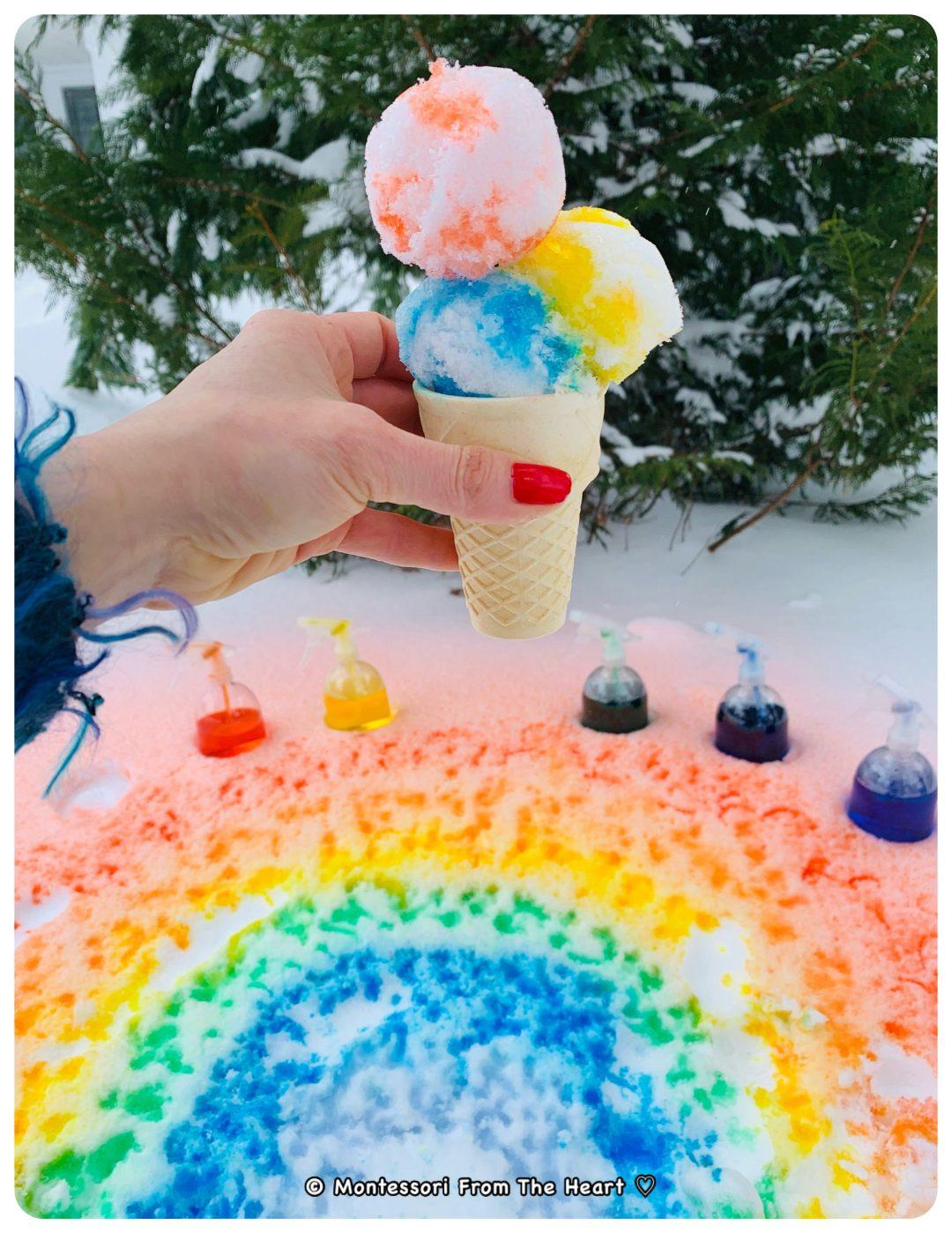 *Snow-Cone-Icecream-Making-Winter-Outdoors