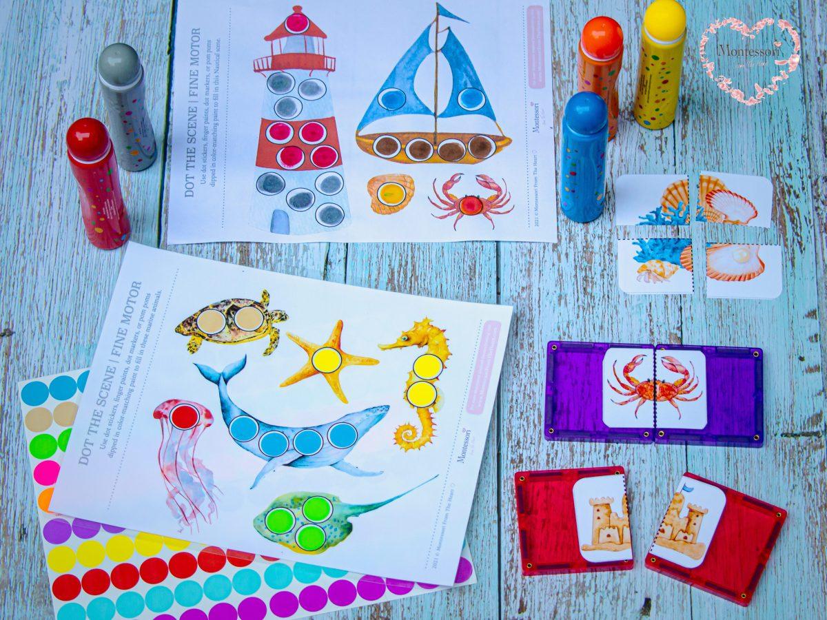 *Seaside Summer Toddler Activities Printable