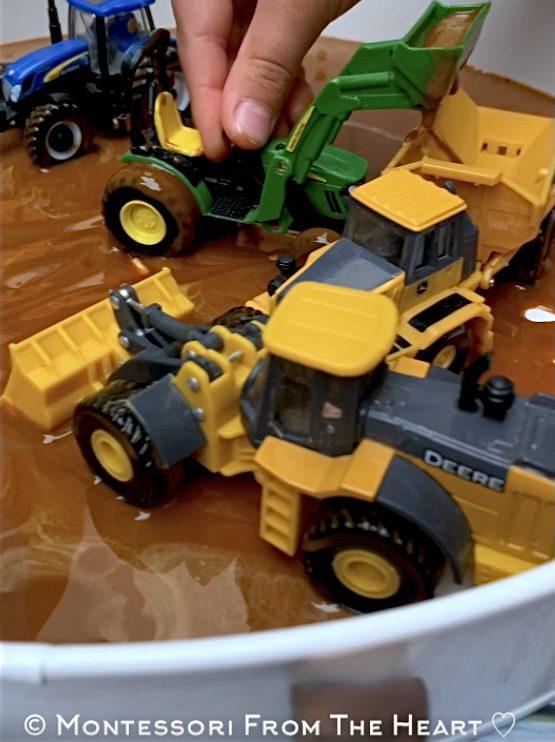 *Taste-Safe Mud Tractors Bin