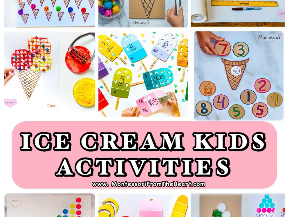 *ICE CREAM KIDS ACTIVITIES for Preschoolers and Kindergartners