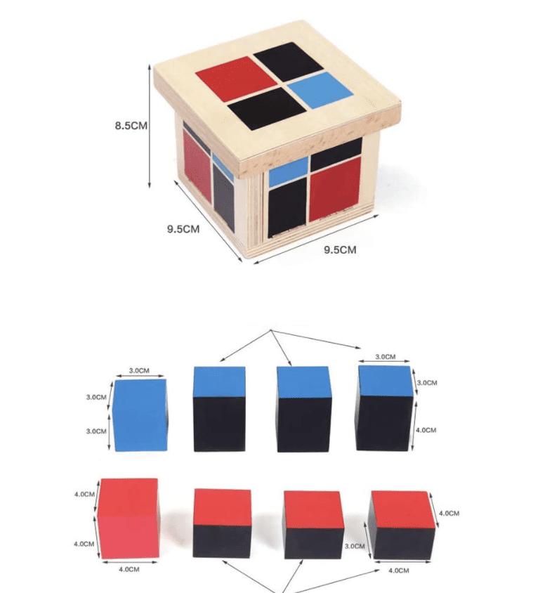 Binomial Cube Montessori Sensor Puzzle