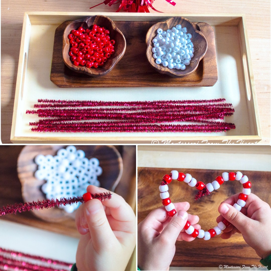 Hearts from Beads