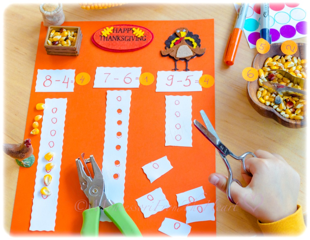 Thanksgiving Subtraction DIY