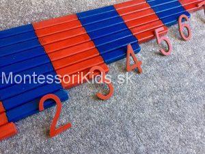 Montessori červeno-modré tyče