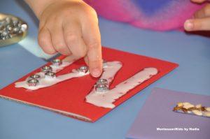 Montessori šmirgľová abeceda