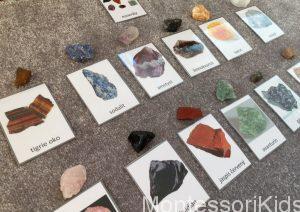 Trojzložkové karty minerály