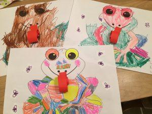 žabka tvorenie s deťmi