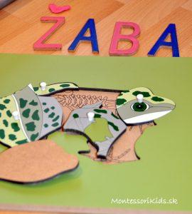 Žaba montessori puzzle