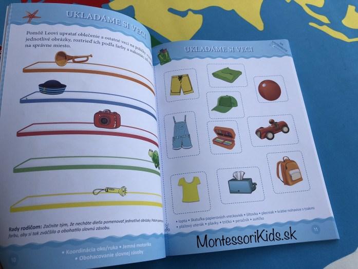 Prázdniny pri mori, Montessori zošit