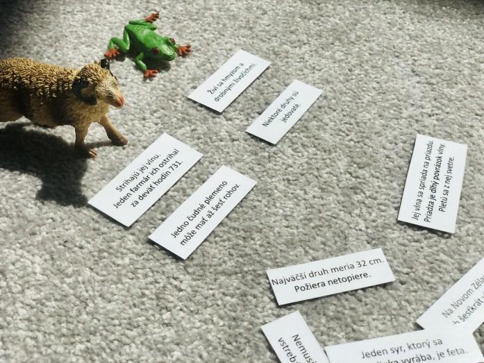 Z jahňaťa ovca, z žubrienky žaba, čítanie s porozumením