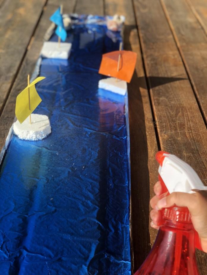 Pokusy s deťmi, preteky plachetníc