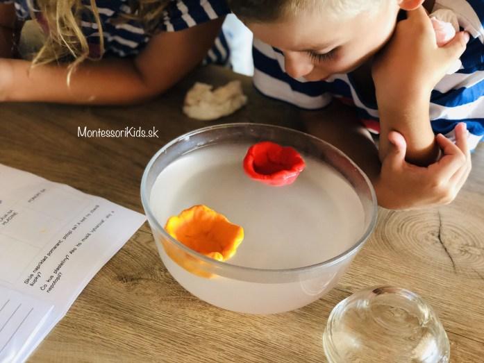 Pokusy s deťmi, voda