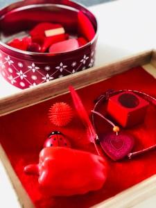 Farebná paleta - červená