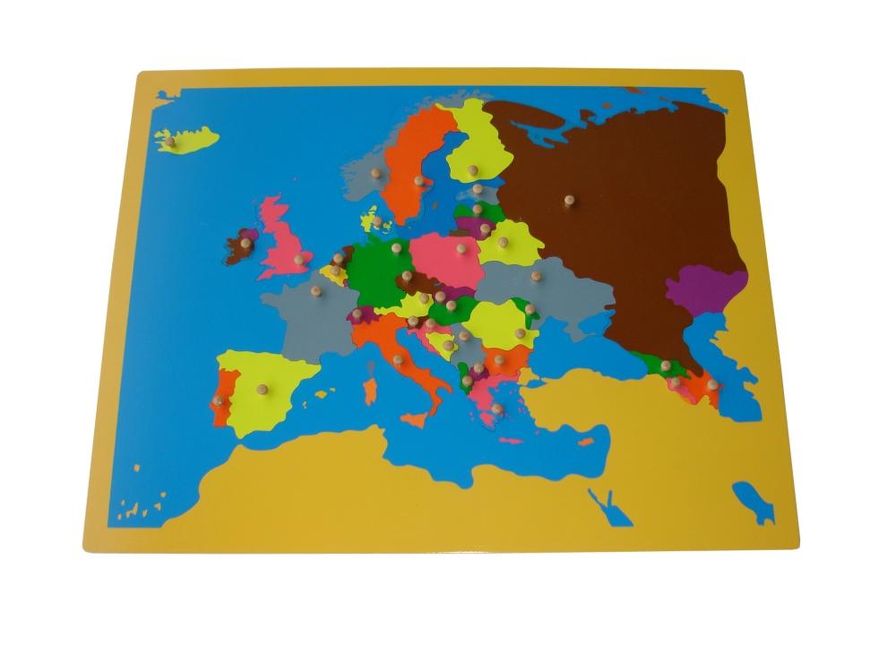 Puzzle mapa Európa