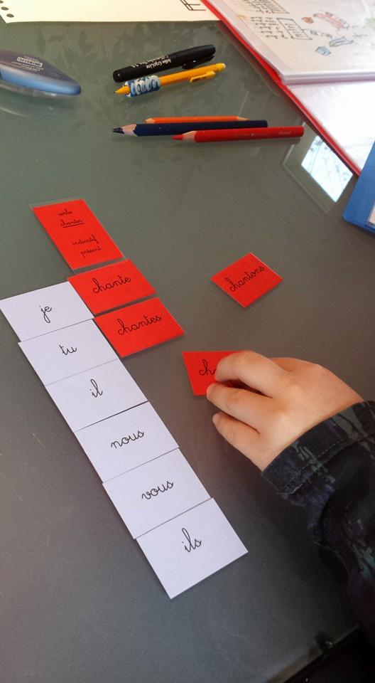 Tableaux Vierges Pour Conjugaison Montessori Mais Pas Que