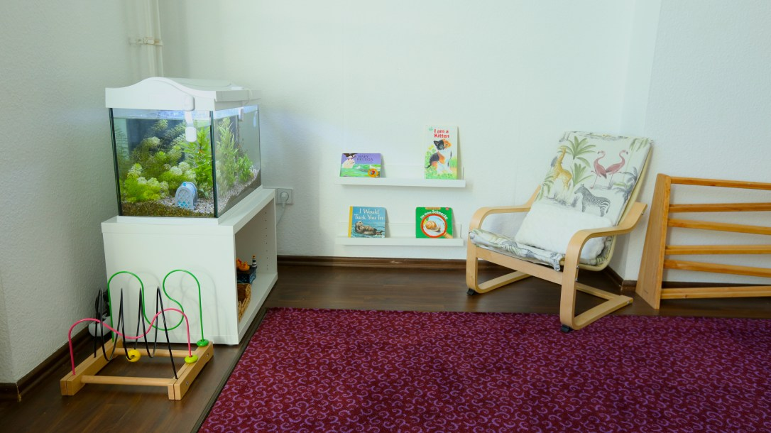toddler aquarium reading nook montessori