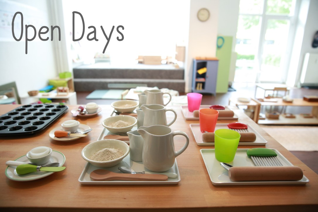 Montessori baking cooking workshop for toddlers in Berlin, saturday monthly open days, parent workshops, toddler workshops, visit Germany's first montessori early learning center