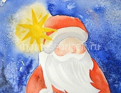 Tvář Santa Claus