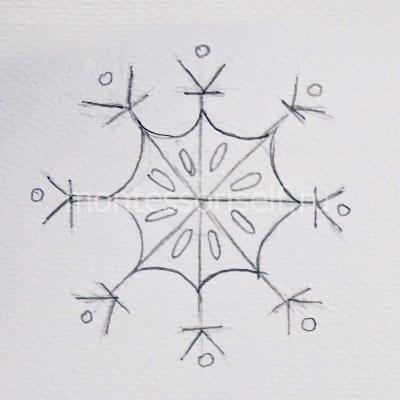Esboço de flocos de neve
