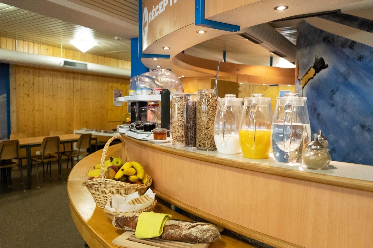 Frühstück in der Mont-Fort Swiss Lodge