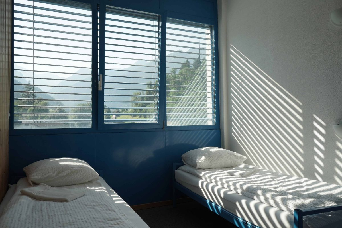 Twin-Zimmer in der Mont-Fort Swiss Lodge