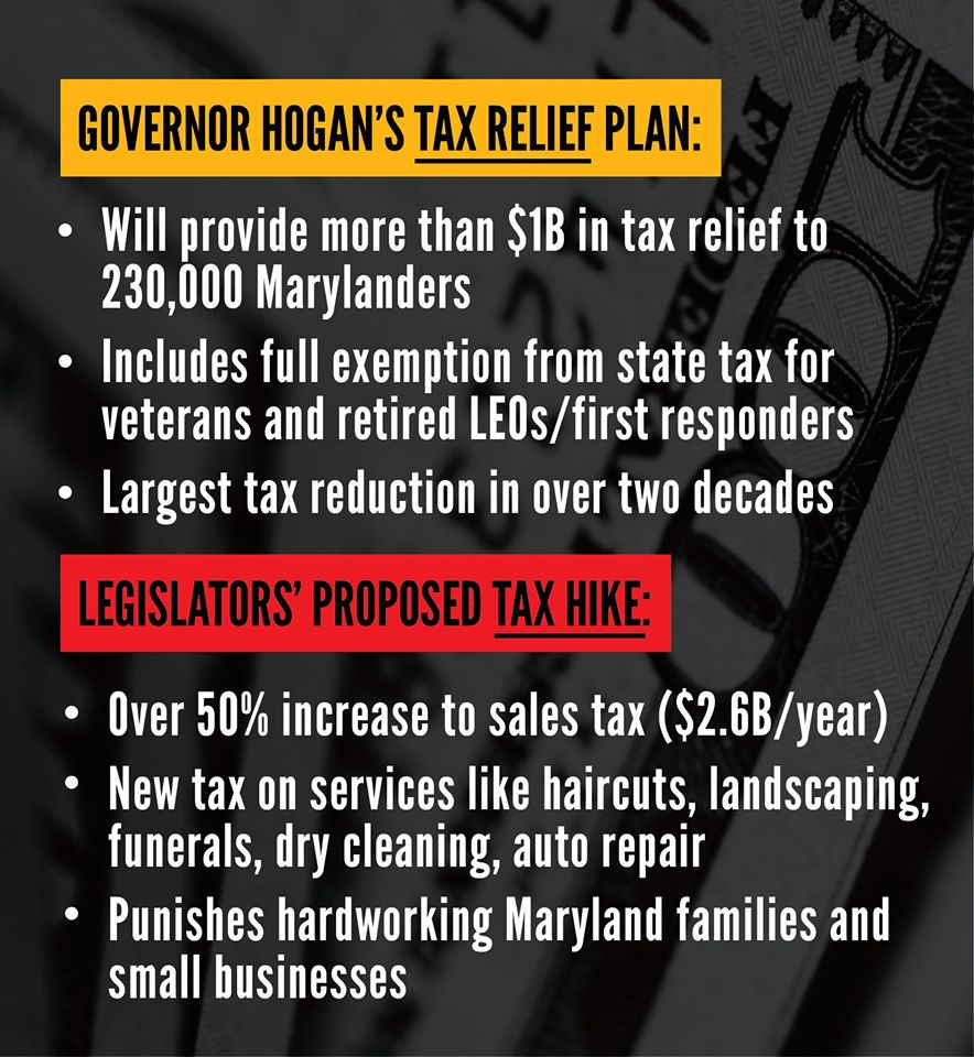 Governor Hogan's Tax Relief plan