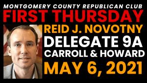 First Thursday, May 6, 2021 Del. Novotny