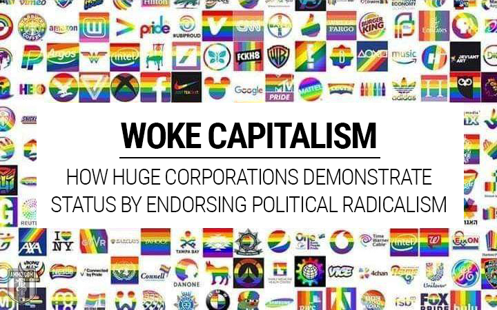 Woke capitalism with logos