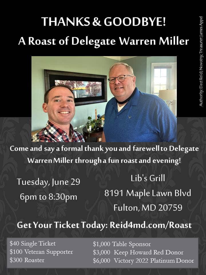 Roast of Del. Warren Miller