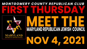 First Thursday meet the Maryland Republican Jewish Council