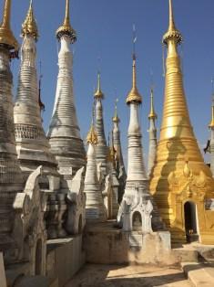 Indein Village stupas