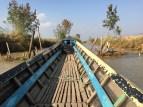 Man-made dam ahead