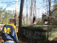 Shooting on a rock