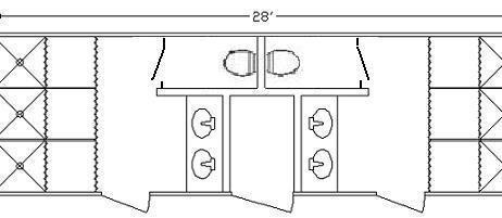 8 Station Shower Restroom Combo Trailer–28 Foot