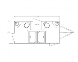 2 Station Combo Shower & Restroom Trailer