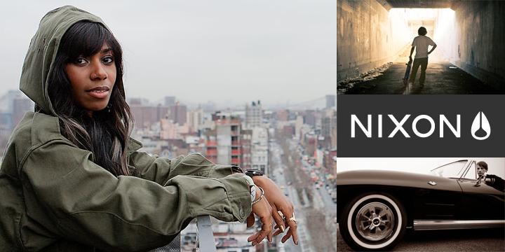 Santigold (Santi White) with Nixon watch