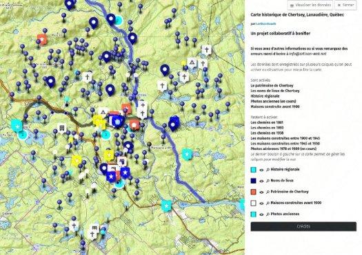 Carte historique de Chertsey