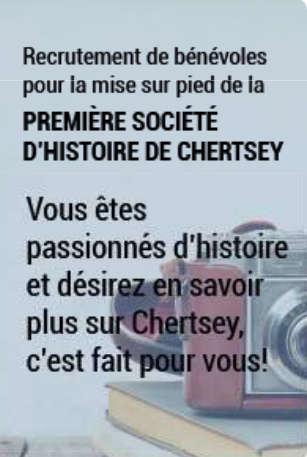 Société d'histoire de Chertsey proposée par la municipalité
