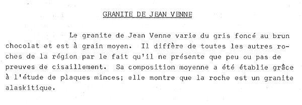 Le granite Jean Venne