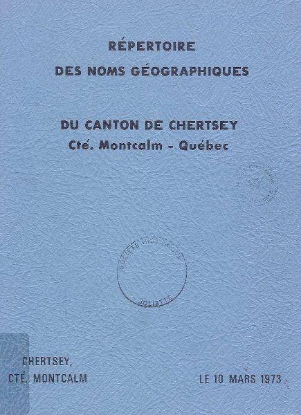 Répertoire des noms géographiques du canton de Chertsey