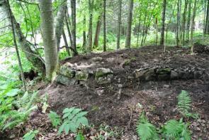 Vestiges du moulin: avant les fouilles