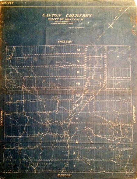 Carte de Chertsey en 1893