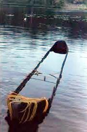 La pirogue du lac Gour à Chertsey