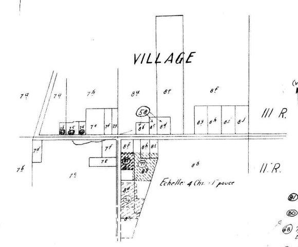 Plan du village de Chertsey