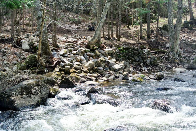 Fouilles des moulins de la Jean-Venne 2017: Vue de l'autre rive