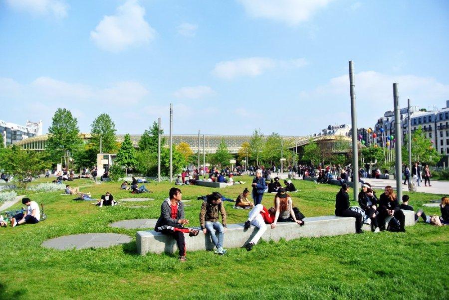 Forum des Halles: le parc