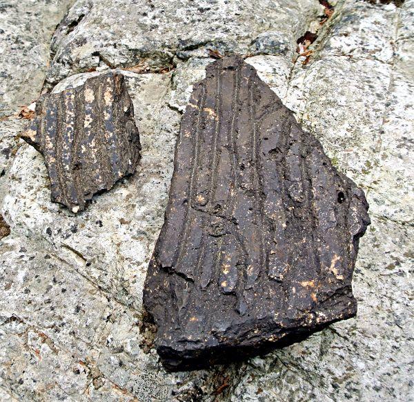 Fragment de meule du moulin à farine