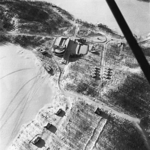 Vue aérienne du site du centre commercial et communautaire