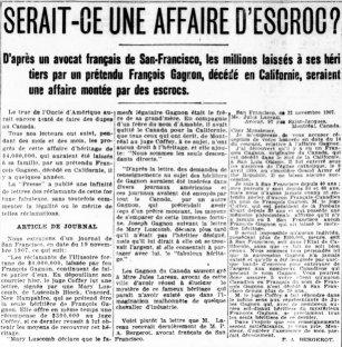 La Presse 12 décembre 1907