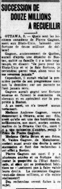 La Tribune 3 février 1922
